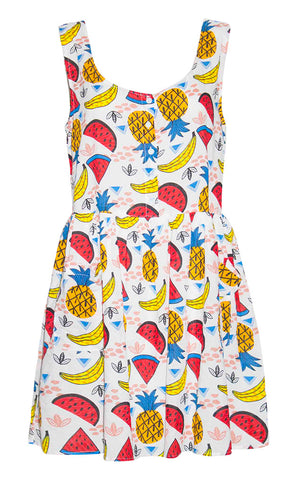 Alice Fruit Print Dress