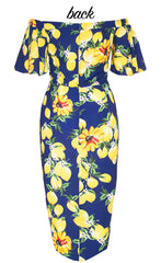 Rodeo Drive Lemon Print Dress