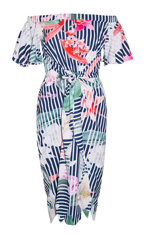 Rodeo Drive Stripe Floral Dress
