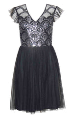 Kristy Black Sequin Dress