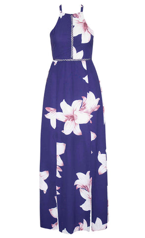 Penny Navy Floral Maxi Dress