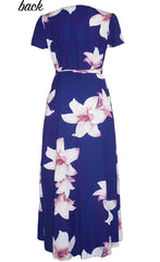 Fiesta Navy Floral Wrap Dress