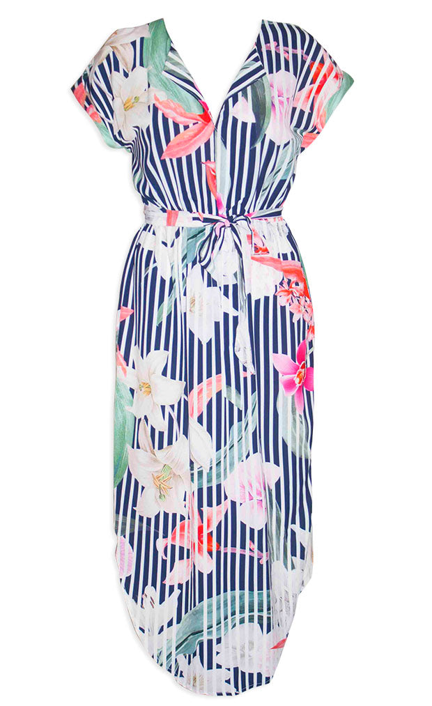 Arlo Stripe Floral Dress