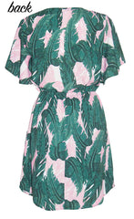 Gemma Pink Palms Dress