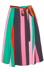 Marayna Pink Stripe Skirt