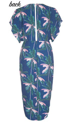 Elliot Navy Tropical Dress