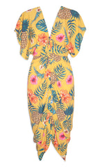 Elliot Mustard Tropical Dress