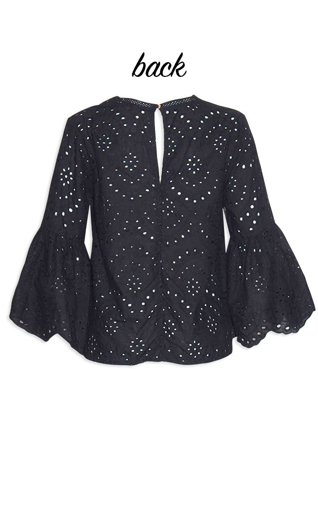Colby Black Lace Blouse