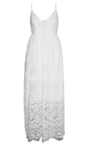 Sasha White Lace Maxi Dress