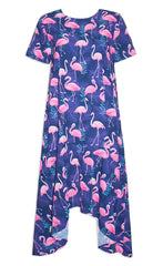 Jessie Flamingo Print Dress