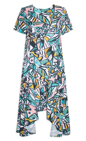 Jessie Green Abstract Dress