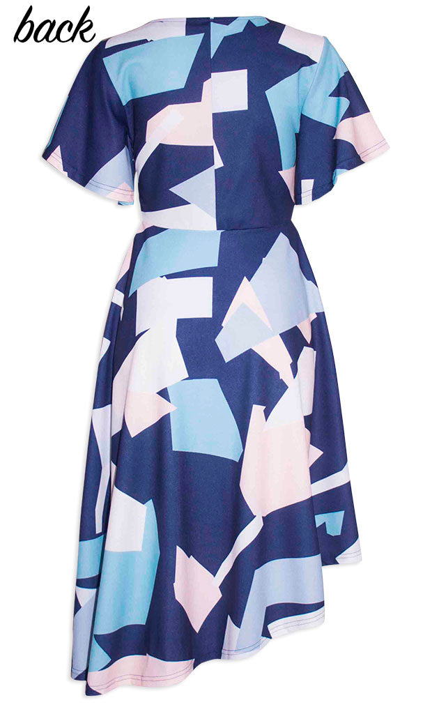 Ruby Abstract Print Dress