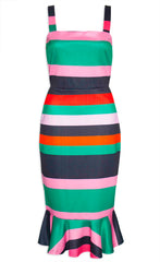Lucinda Pink Stripe Dress