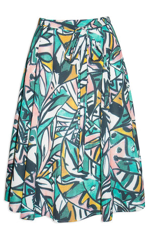 Marayna Green Abstract Skirt