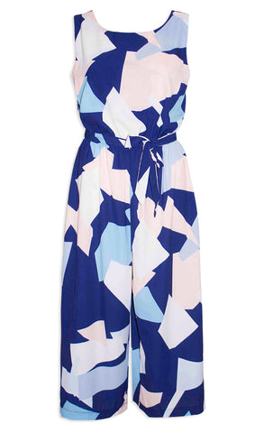 Bailey Navy Abstract Jumpsuit