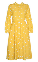 May Mustard Polka Dot Dress
