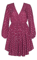Alison Burgundy Spots Dress