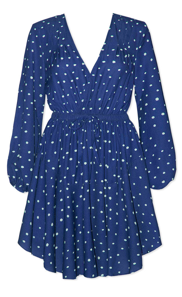 Alison Navy Spots Dress