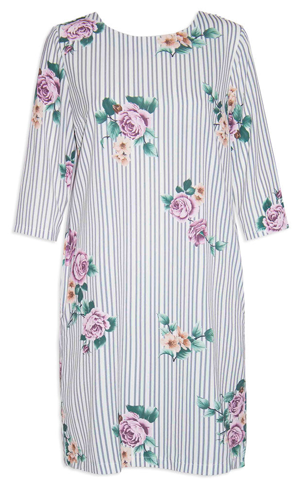 Holly Stripe Floral Dress