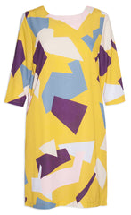 Holly Mustard Geo Dress