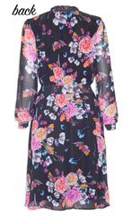 Trixie Black Floral Dress
