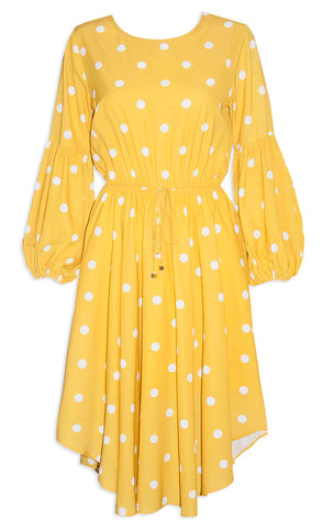 Danielle Mustard Polka Dot Dress