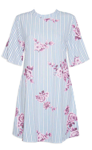 Roxanne Stripe Floral Dress