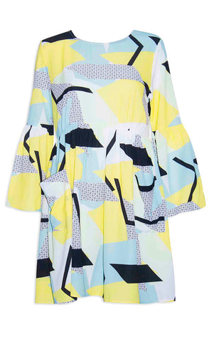 Morgan Yellow Geo Dress