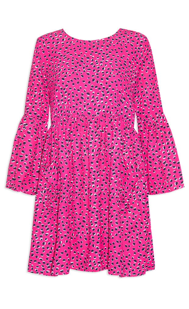 Morgan Pink Leopard Dress