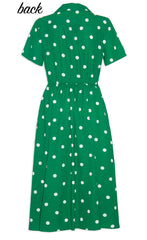 Florence Green Polka Dot Dress
