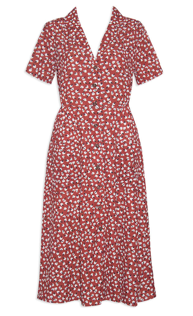 c703a49c Florence Burgundy Floral Dress – Little Party Dress