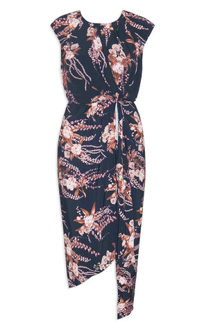 High Flyer Black Floral Dress