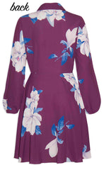 Bethany Purple Floral Dress