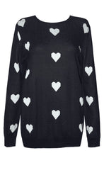 Cuddles Black Love Heart Knit