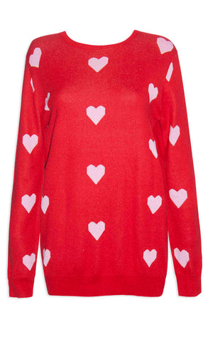 Cuddles Red Love Heart Knit