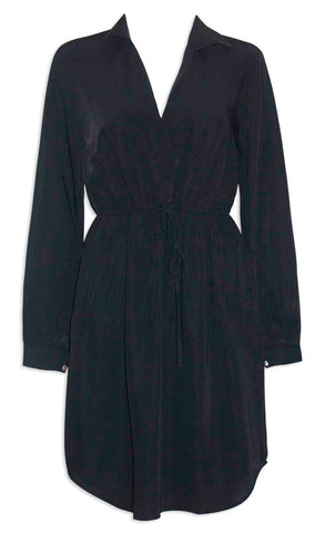 Ocean Black Shirt Dress