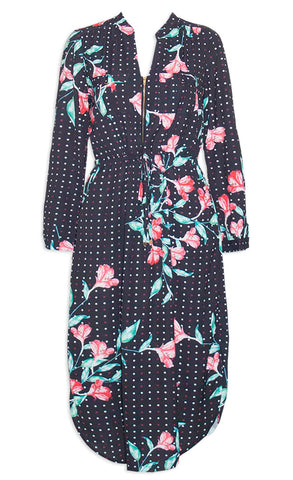 Miranda Spotty Floral Shirt Dress