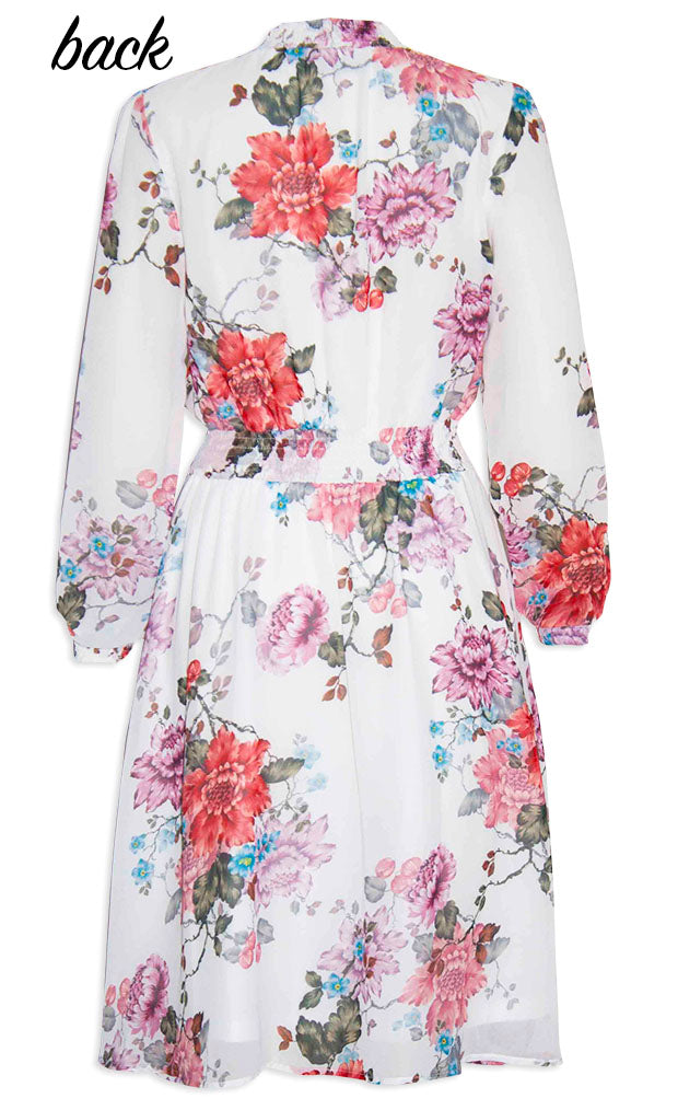 Trixie White Floral Dress