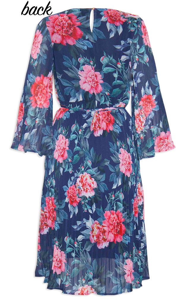Dream State Navy Blue Floral Dress
