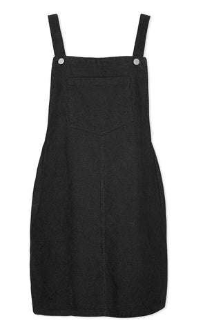 Pippa Black Pinafore Dress