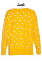 Hunter Yellow Polka Dot Knit