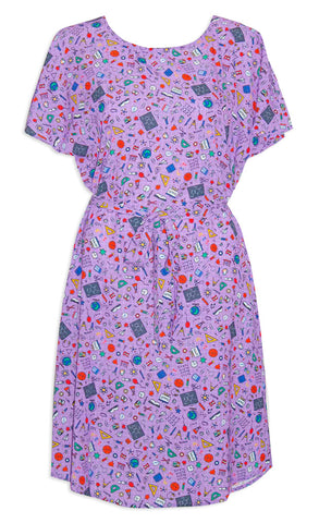 Megan Purple Teacher Dress