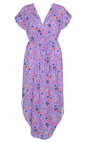 Arlo Purple Teacher Dress