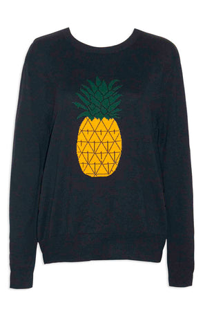 Tali Black Pineapple Knit