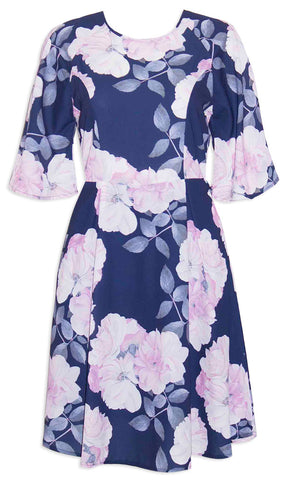 Sheree Navy Floral Dress