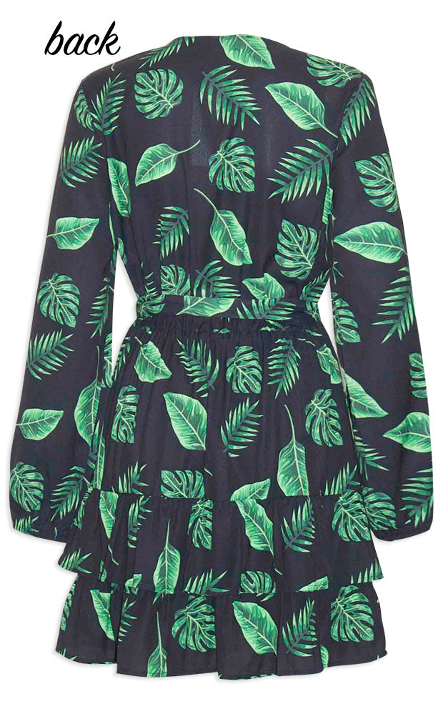 Verity Leaf Print Dress