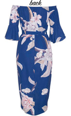 April Navy Floral Dress