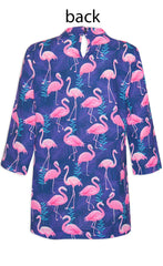 Patty Flamingo Print Top