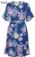 Emma Navy Floral Dress