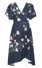 Queen Spotty Floral Dress